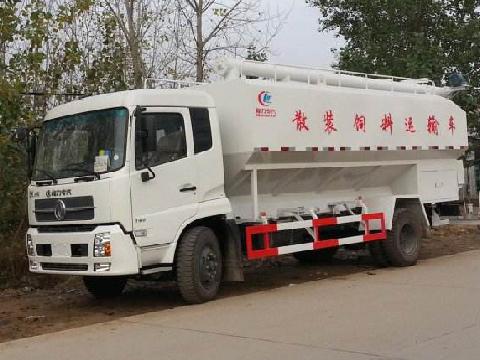 东风天锦2轴散装饲料运输车
