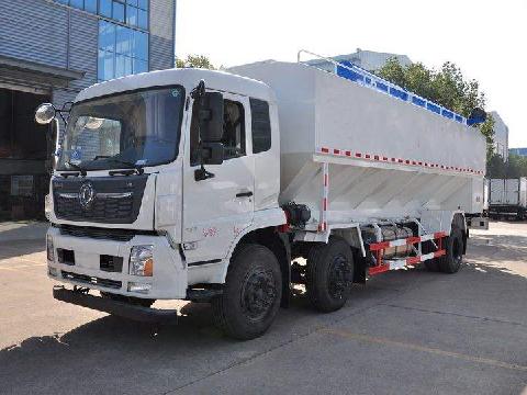 东风天锦3轴散装饲料运输车