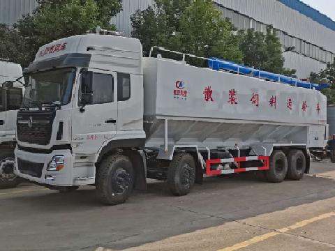 东风天龙4轴散装饲料运输车