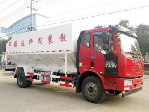 解放2轴散装饲料运输车